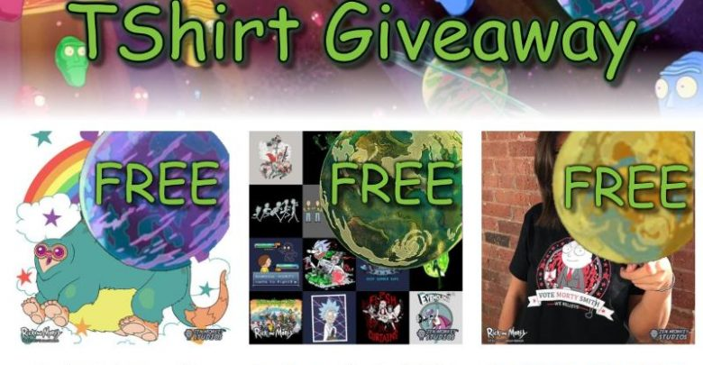 Rick and Morty TShirt Giveaway Banner