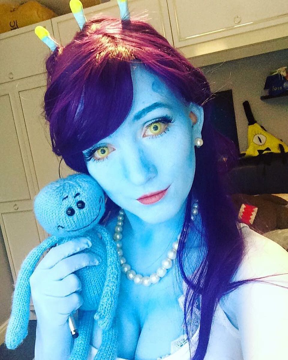Unity and Mr Meeseeks Cosplay